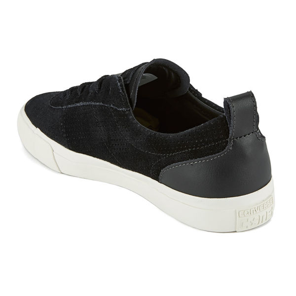 Converse CONS Men\u0027s Match Point Suede/Leather Mix Trainers - Black: Image 5