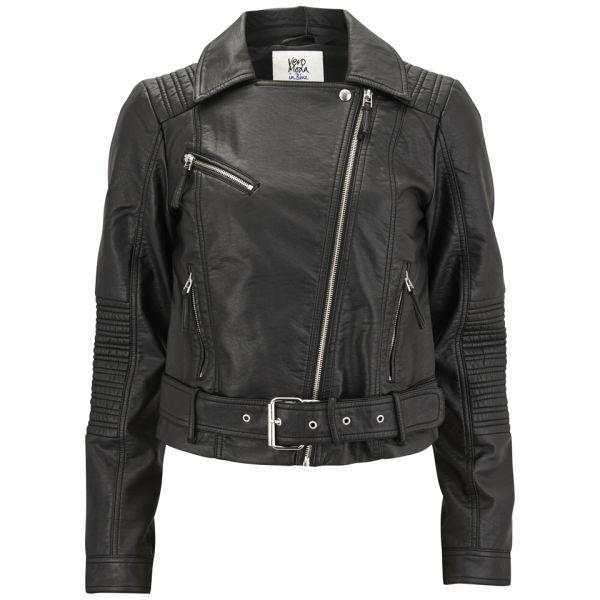 vero moda women 39 s swift pu jacket black womens clothing. Black Bedroom Furniture Sets. Home Design Ideas