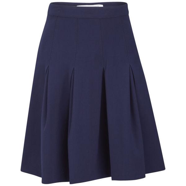 Diane von Furstenberg Women's Gemma Ceramic Pleated Skirt - Ink