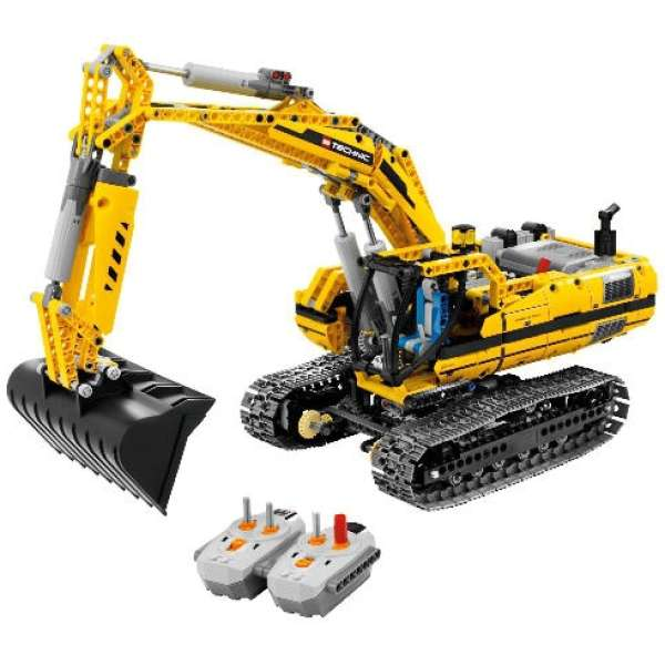 lego technic motorised excavator 8043 toys. Black Bedroom Furniture Sets. Home Design Ideas
