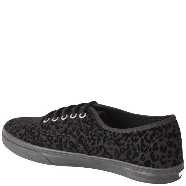 087c52100ee3c7 Vans Women s Authentic Lo Pro Cheetah Trainers - Black  Image 2