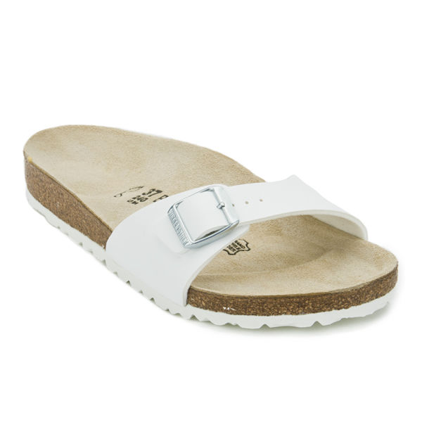 6d44f5df6dbe Birkenstock Women s Madrid Slim Fit Single Strap Sandals - White  Image 5