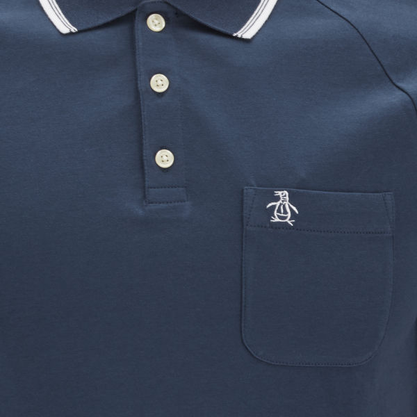 Original Penguin Men S 55 Polo Shirt Navy Clothing Thehut Com