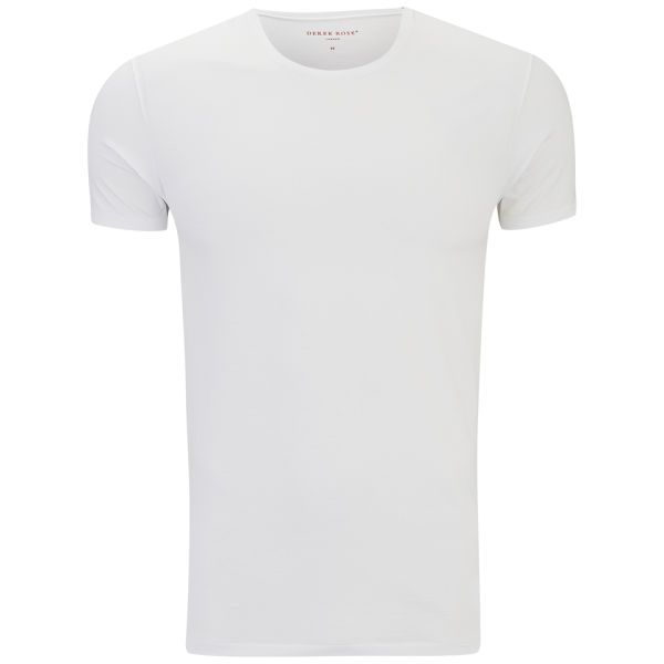 Derek Rose Men's Jack 1 Crew Neck T-Shirt - White