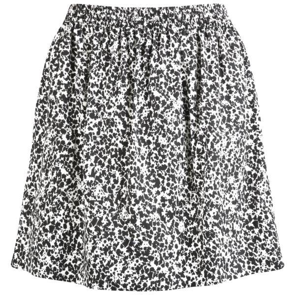 Lacoste Live Women's Ink Print Skirt - Flour/Black