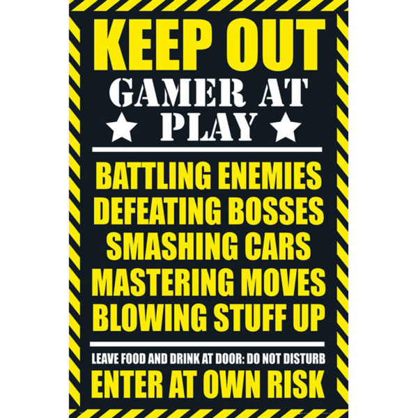 Gaming Keep Out - Clean - Maxi Poster - 61 x 91.5cm