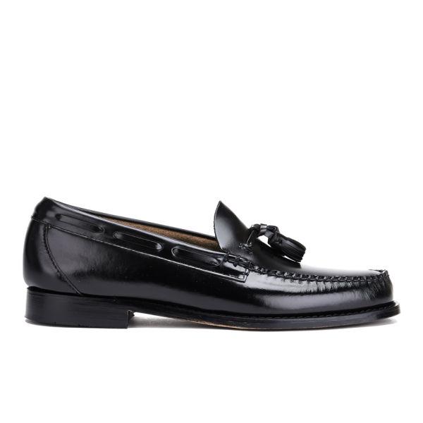 Bass Weejuns Men's Larkin Moc Leather Tassel Loafers - Black