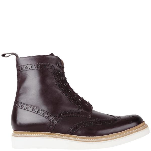 Grenson Men's Fred V Brogue Boots - Burgundy