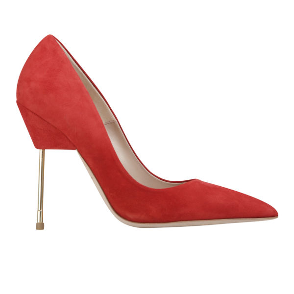 Kurt Geiger Women's Britton Stiletto Heeled Suede Court Shoes - Red