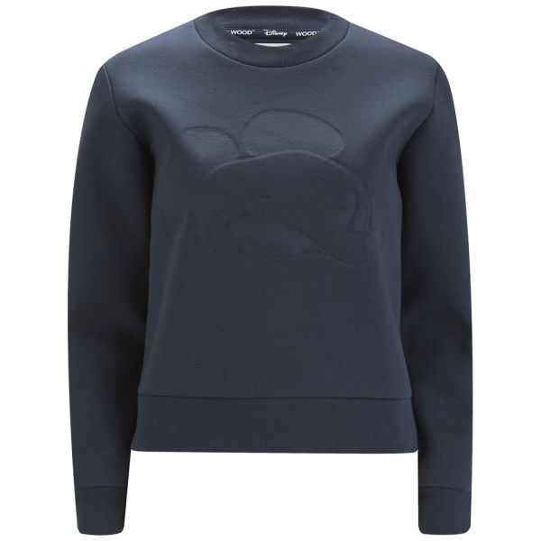Disney & Wood Wood Women's Brianna Bonded Mickey Sweatshirt - Navy ...
