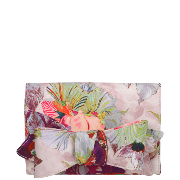 Ted Baker Sowa Treasured Orchid Bow Clutch Pale Pink