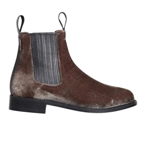 Penelope Chilvers Women's Chelsea Velvet Ankle Boots - Quartz