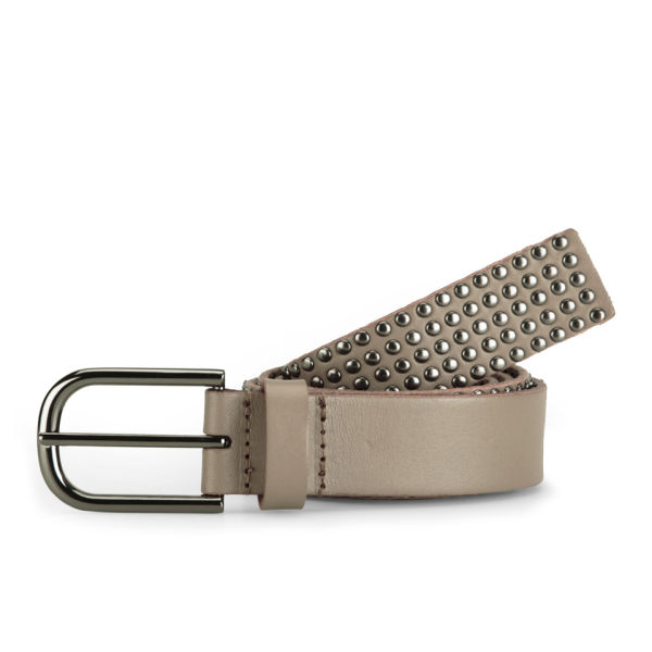 Markberg Women's Asta Studded Leather Jeans Belt - Latte