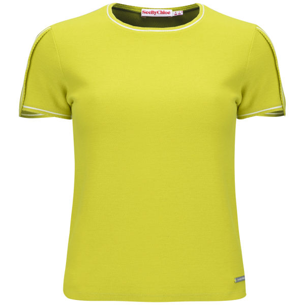See By Chloé Women's Summer Sweat T-Shirt - Lime