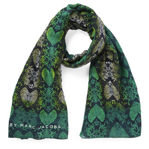 Marc by Marc Jacobs Women's Heart Snake Print Scarf - Green Multi
