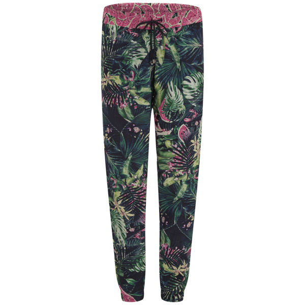 We Are Handsome Women's Jungle Fever Silk Cotton Pants - Blue
