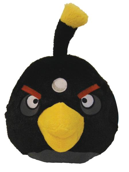 Angry Birds 5 Inch Plush Black Bird With Sound Iwoot