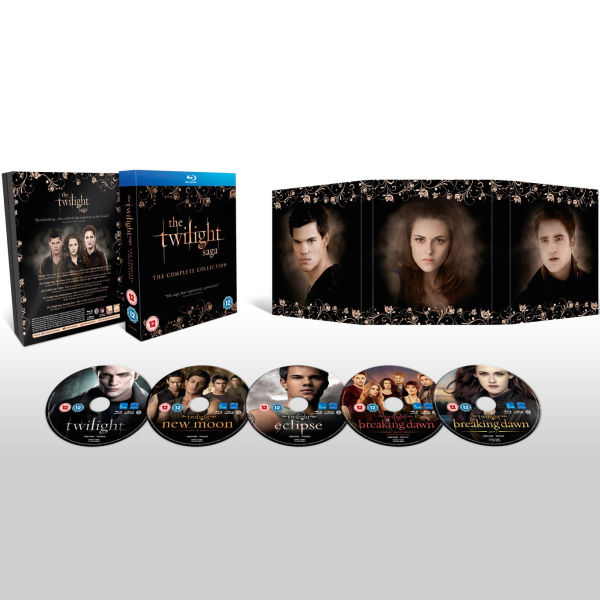 the twilight saga the complete collection includes extended edition of breaking dawn part 1. Black Bedroom Furniture Sets. Home Design Ideas
