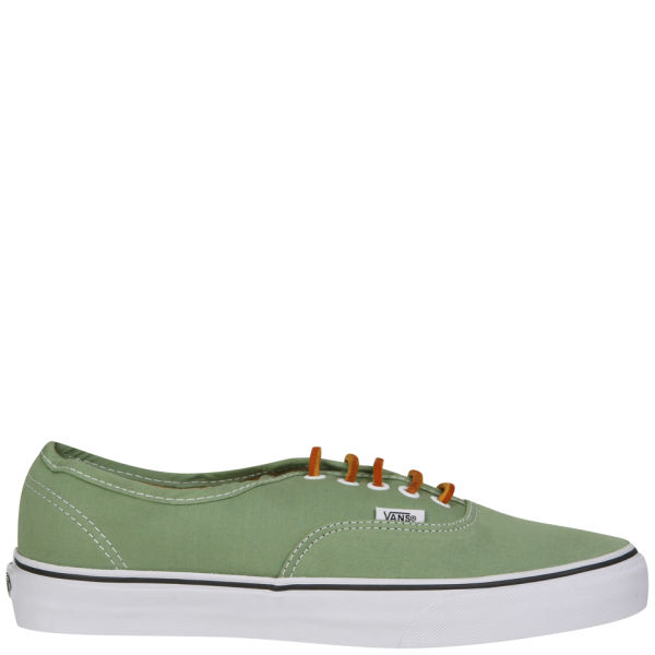 fa6a36bf8c53 Vans Authentic Brushed Twill Trainer - Shale Green True White  Image 3