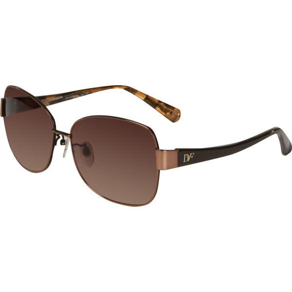 Diane von Furstenberg Joy Round Sunglasses - Chocolate