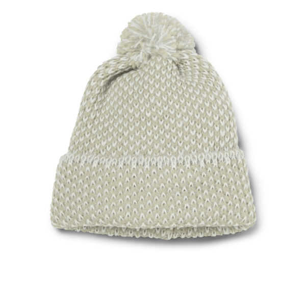 Peter Jensen Men's Diagonal Stitch Merino and Alpaca Hat - Beige/White
