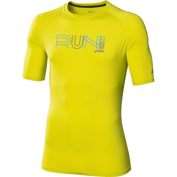 Asics Men's Graphic Running Top - Electric Lime