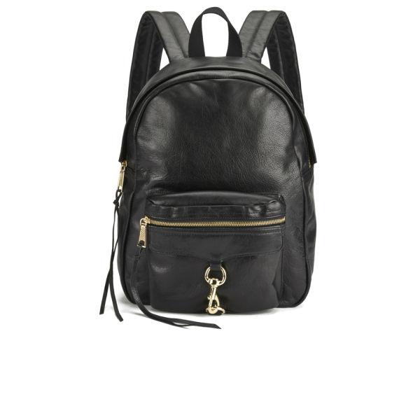Rebecca Minkoff Women S M A B Leather Backpack Black Image 1