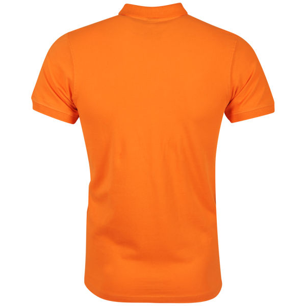 Crosshatch men 39 s foxler polo shirt red orange clothing for Orange polo shirt mens
