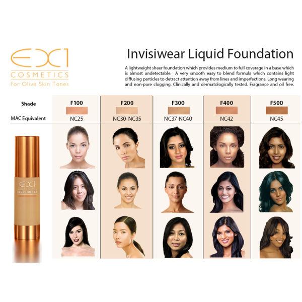 Ex1 Invisiwear Foundation | Dark Brown Hairs