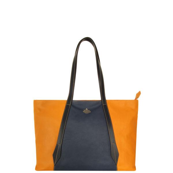 Vivienne Westwood - Accessories Women's 5897 Babylon Large Sunflower & Blue Leather Bag - Sunflower Blue