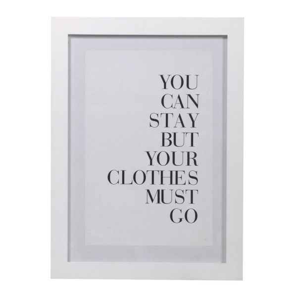 Clothes Must Go Framed Print
