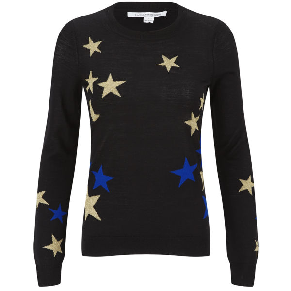 Diane von Furstenberg Women's Stars and Moons Wool Jumper - Stars And Moons Intarsia