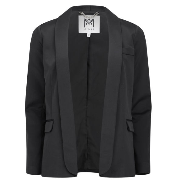 MILLY Women's Shawl Collar Blazer - Black