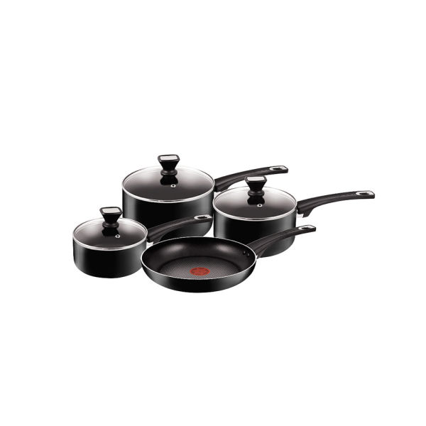 tefal jamie oliver 4 piece pan set iwoot. Black Bedroom Furniture Sets. Home Design Ideas