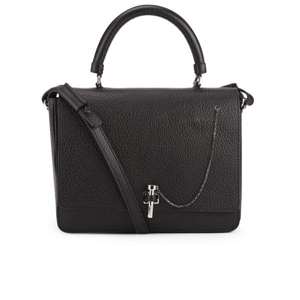 Carven Leather Cross Body Bag - Black