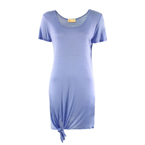 MW Matthew Williamson Women's Plain Slub Jersey Dress - Bluebell