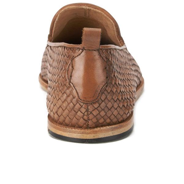 ed07d259c243e Hudson London Men's Ipanema Weave Slip on Leather Shoes - Tan | FREE ...