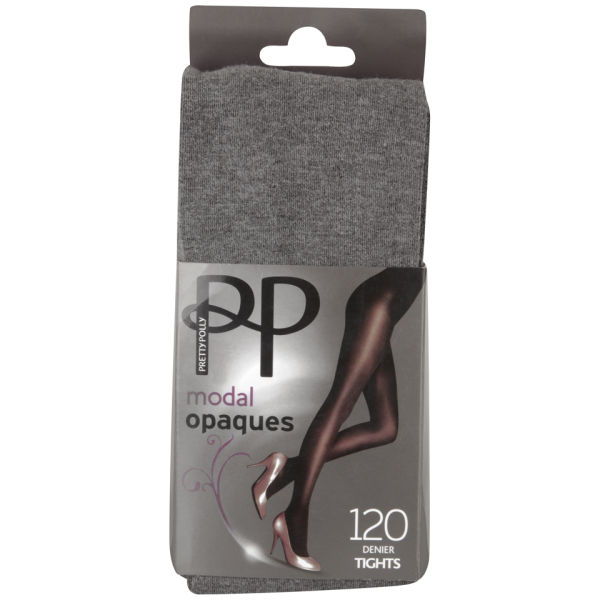 Collant Opaque Pretty Polly Modal -Gris Chiné