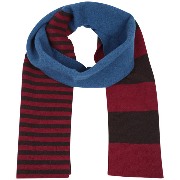 Ted Baker Roschick Block Striped Scarf - Blue