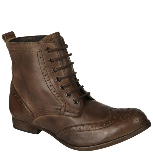 H Shoes by Hudson Women's Sherwin Lace Up Ankle Boots - Brown