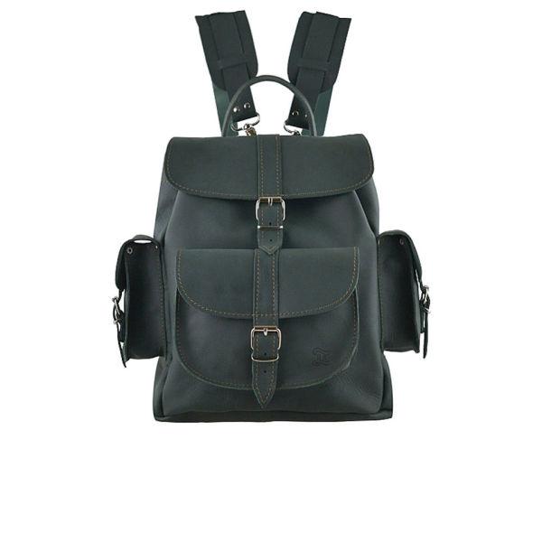 Grafea Envy Medium Leather Rucksack - Dark Green