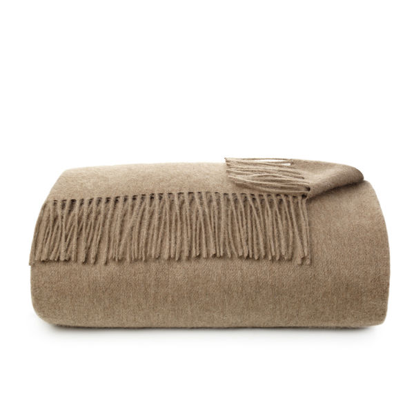 Alison at Home Heritage Cashmere Throw - Mink