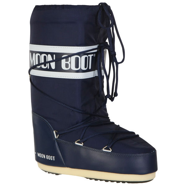 Moon Boot Women S Nylon Boots Blue Free Uk Delivery
