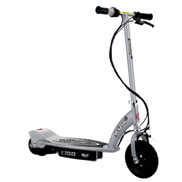 Razor e100 electric scooter silver iwoot for Razor motor scooter e100
