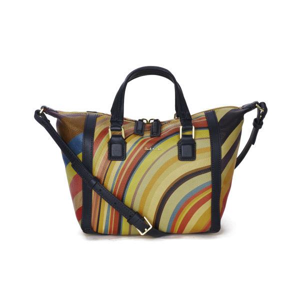 Paul Smith Accessories Women S Mini Ziggy Leather Tote Bag Multi Swirl Image 1