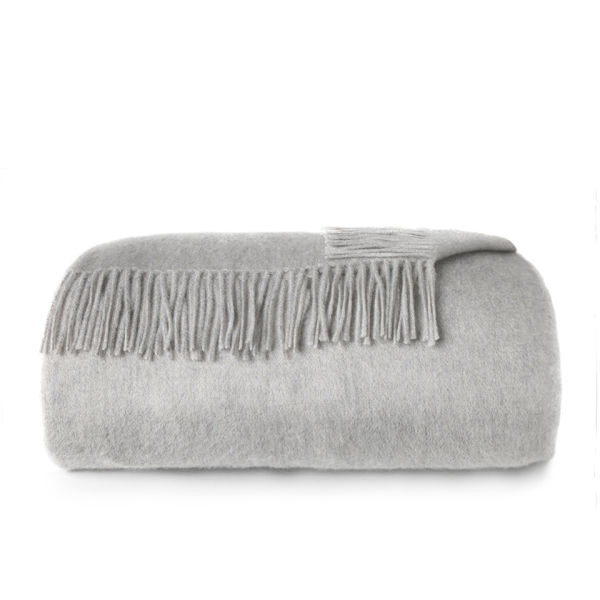 Alison at Home Heritage Cashmere Throw - Pebble
