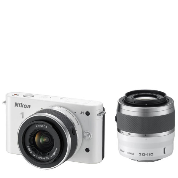 Nikon 1 j1 compact system camera with 10 30mm and 30 110mm double lens