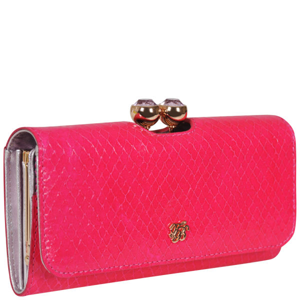e1cb81e6d84ca1 Ted Baker Elaney Neon Crystal Exotic Matinee Purse Neon Pink