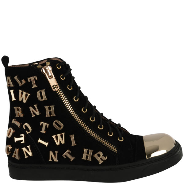 Jeffrey Campbell Women's Adams ABC Suede High Tops - Black