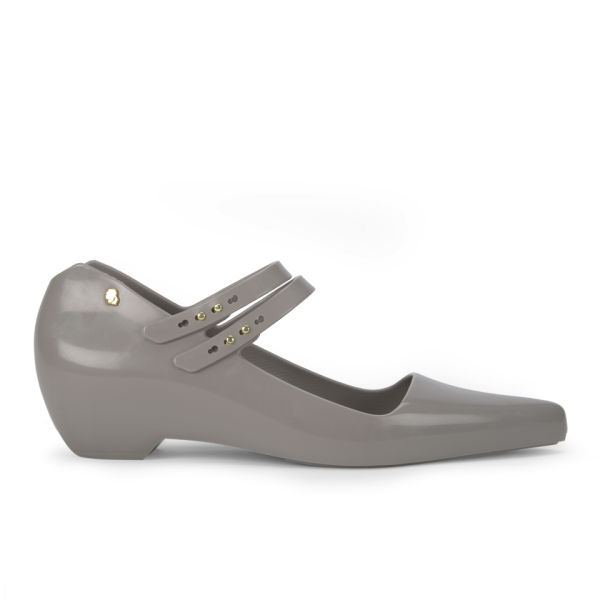 Karl Lagerfeld for Melissa Women's Melissima 11 Pointed Toe Flat Shoes - Stone